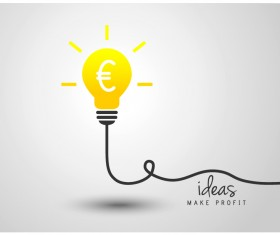 light bulb with ideas vector template 09