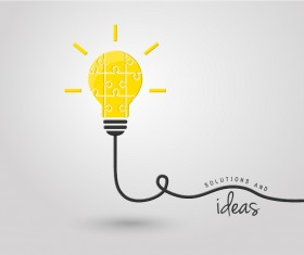 light bulb with ideas vector template 11