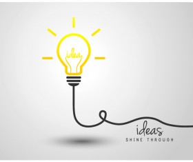light bulb with ideas vector template 14