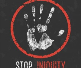 stop iniquity sign vector
