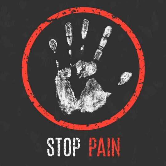 stop pain sign vector