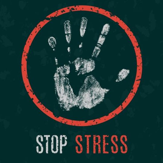 stop stress sign vector