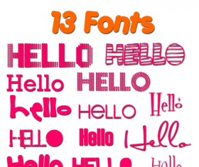 13 Kind Cute Fonts