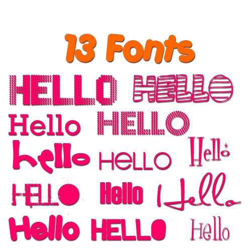 13 Kind Cute Fonts