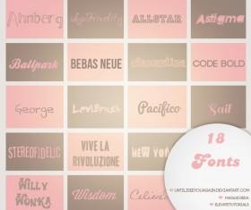 18 Kind Modern Fonts Pack