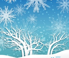 2017 Christmas paper cut with greeting cards vector 01