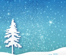 2017 Christmas paper cut with greeting cards vector 02
