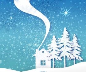 2017 Christmas paper cut with greeting cards vector 03