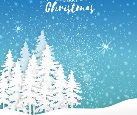2017 Christmas paper cut with greeting cards vector 04