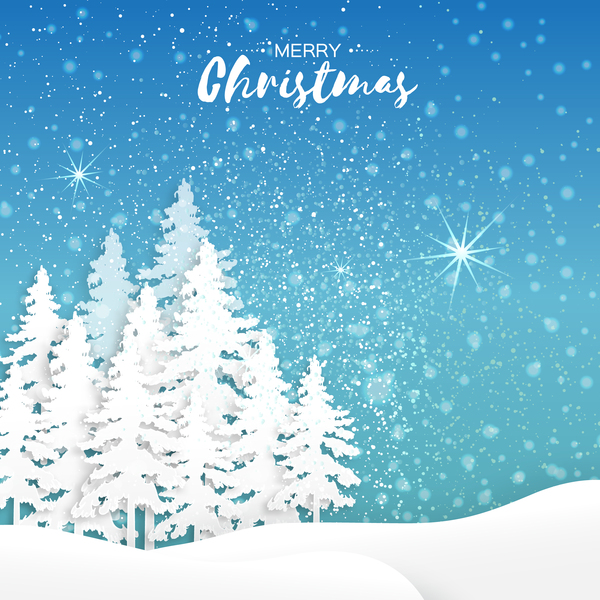 2017 christmas paper cut with greeting cards vector 04 free download