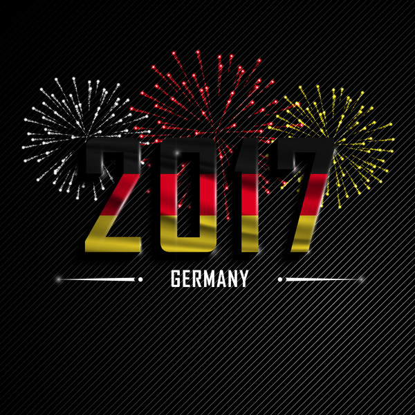 2017 new year germany vector background