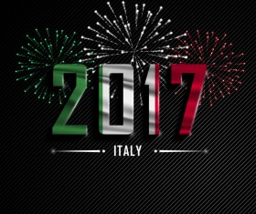 2017 New Year Italy vector background