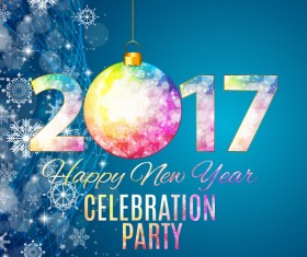 2017 New year celebration party poster vector