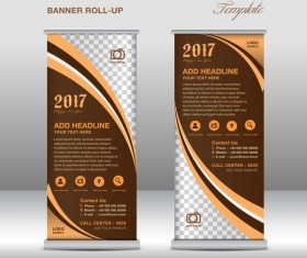 2017 banner roll up flyer stand template vector 04