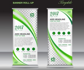 2017 banner roll up flyer stand template vector 05