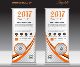 2017 banner roll up flyer stand template vector 06