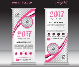 2017 banner roll up flyer stand template vector 07
