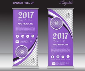 2017 banner roll up flyer stand template vector 08