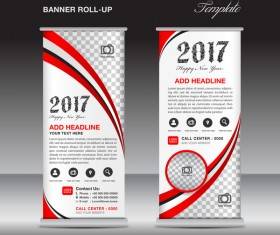 2017 banner roll up flyer stand template vector 09