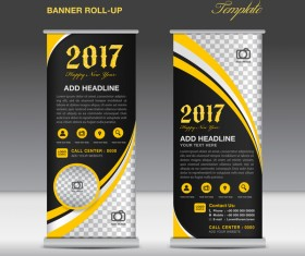 2017 banner roll up flyer stand template vector 10