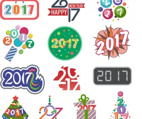 2017 logos design vector set