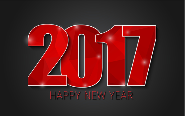 ... EPS file 2017 new year background with text design vector 02 download