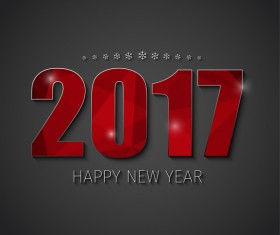 ... EPS file 2017 new year background with text design vector 06 download
