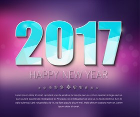 ... EPS file 2017 new year background with text design vector 12 download