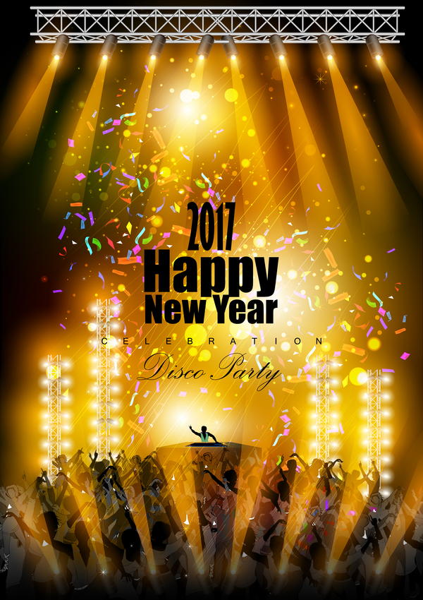 2017 New Year Night Party Poster Template Vectors 10 - Vector