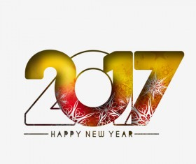 2017 new year creative background set vector 01