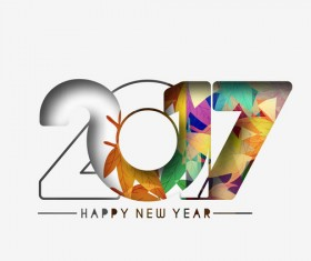 2017 new year creative background set vector 02