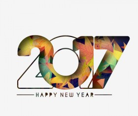 2017 new year creative background set vector 03
