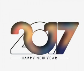 2017 new year creative background set vector 04