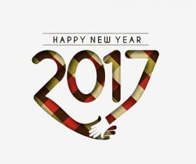2017 new year creative background set vector 08