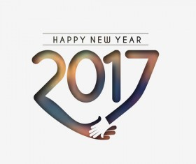 2017 new year creative background set vector 09