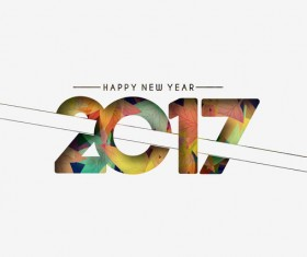 2017 new year creative background set vector 12