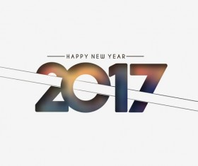 2017 new year creative background set vector 13