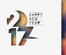 2017 new year creative background set vector 14