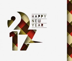 2017 new year creative background set vector 15