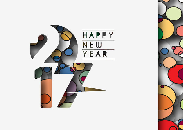 2017 new year creative background set vector 16