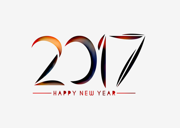 2017 new year creative background set vector 20