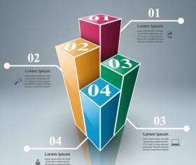3d box white line infographic vector