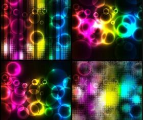 4 Kind colorful light background vector