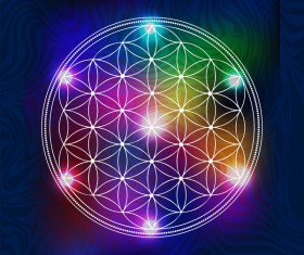 Abstract diamond shaped geometric symbols Stock Photo