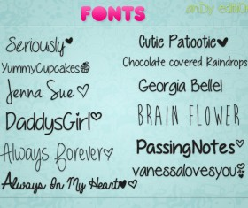 Andy editiions fonts