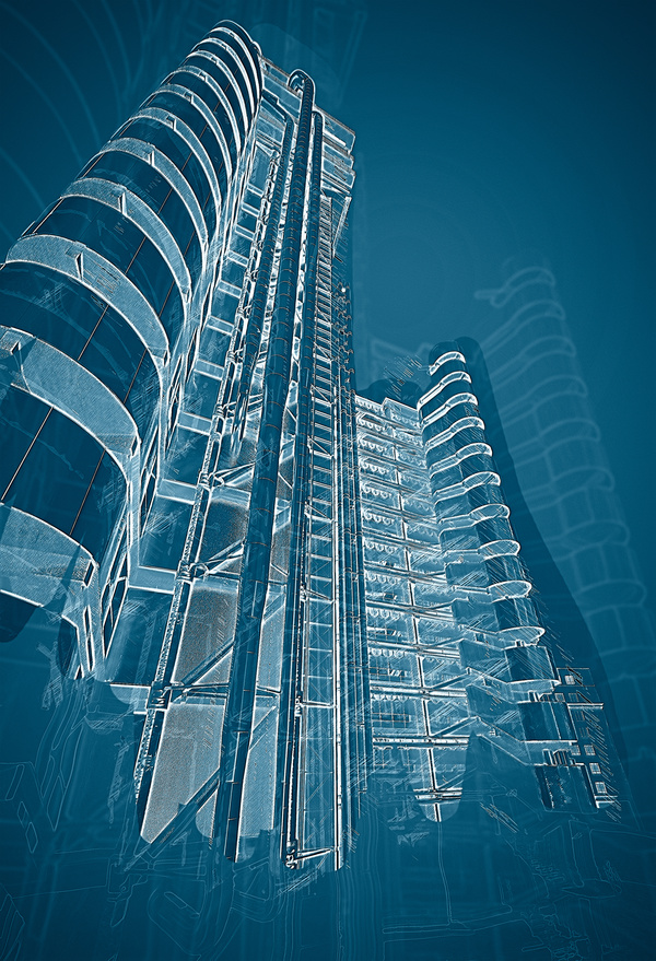 Architectural architecture abstract blueprint 03