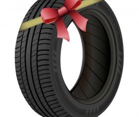 Auto tires design vector set 01