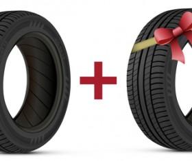 Auto tires design vector set 02