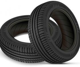 Auto tires design vector set 08