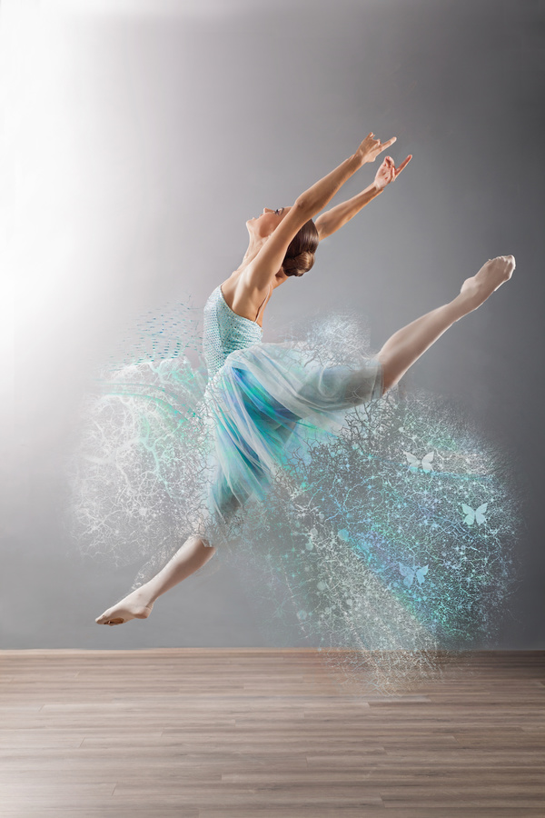 Beautiful Ballet Jumping Dancers Hd Picture Free Download